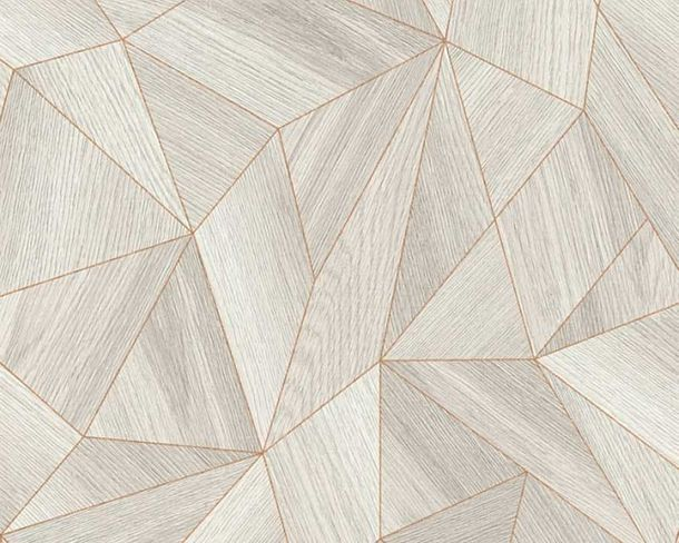 Wallpaper Daniel Hechter 3D polygon taupe 36133-2