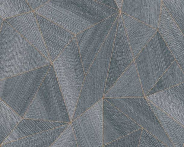 Wallpaper Daniel Hechter 3D polygon anthracite 36133-3