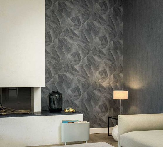 Wallpaper Daniel Hechter 3D polygon anthracite 36133-3 online kaufen