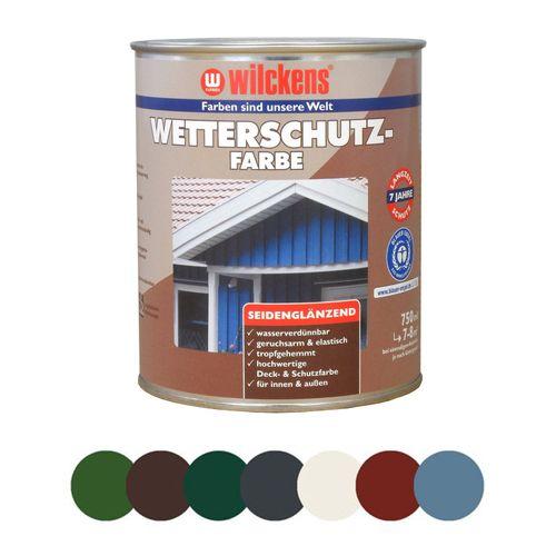 Wilckens Wetterschutzfarbe Holzdeckfarbe 750 ml | 7 Farben