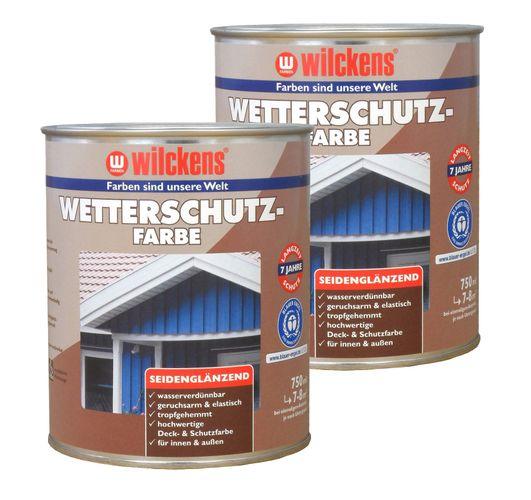 Wilckens Wetterschutzfarbe Holzdeckfarbe 2,5 Liter | 7 Farben