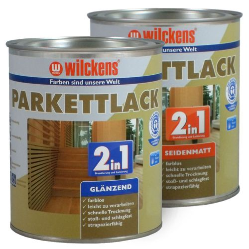 Wilckens 2in1 Parquet Flooring Varnish Paint Lacquer 2,5 litre