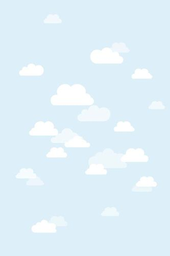 XL Kids Wallpaper Mural Clouds Sky light blue 058842 online kaufen