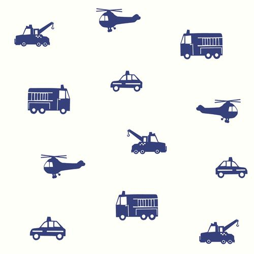 Kids Wallpaper Cars Helicopter Fire Truck white blue 137321 online kaufen
