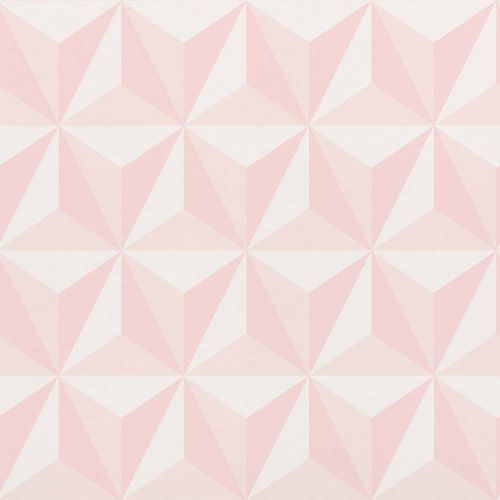 Kids Wallpaper 3D Triangle pink white 138911
