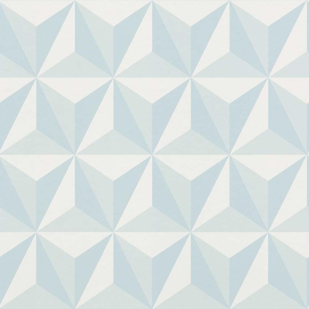 Kids Wallpaper 3d Triangle Light Blue 138912