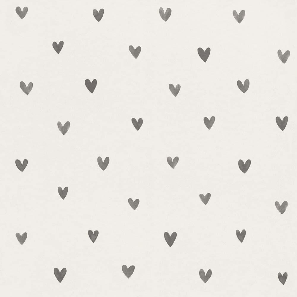 Kids Wallpaper Cute Hearts White Grey 138914