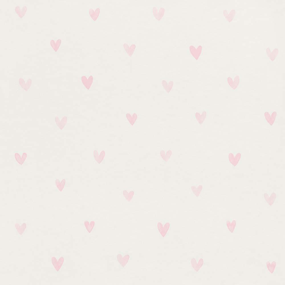 kids wallpaper cute hearts white pink rasch textil 138915