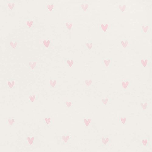 Kids Wallpaper Cute Hearts white pink 138915 online kaufen
