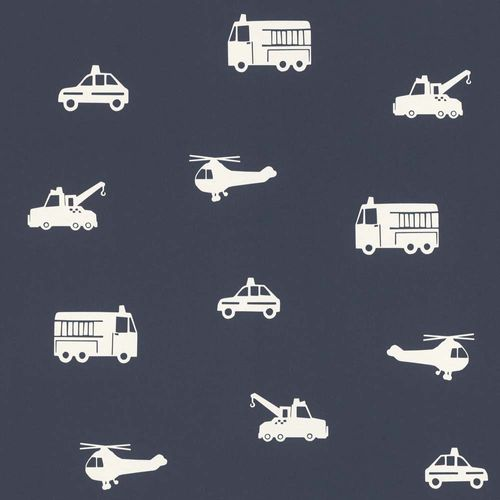 Kids Wallpaper Cars Helicopter dark blue white 138916