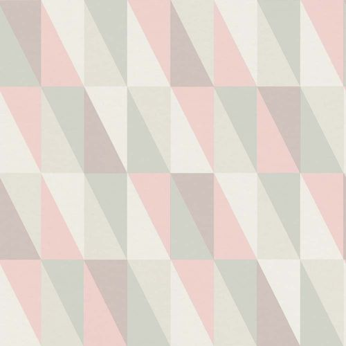 Kids Wallpaper Triangle mint green pink 138919 online kaufen