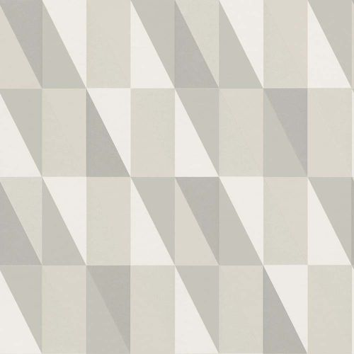 Kids Wallpaper Triangle light grey beige 138922