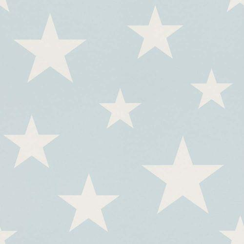 Vlies Kindertapete Sterne hellblau weiß 138932 online kaufen