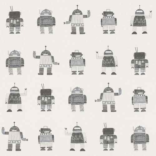 Kids Wallpaper Robots grey white World Wide Walls 138939 online kaufen