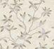 Wallpaper tendril leaf cream grey gloss 200701 001