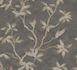 Wallpaper tendril leaf grey taupe gloss 200702 001