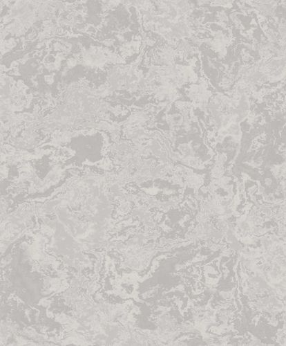 Wallpaper marble design silver grey gloss 100706