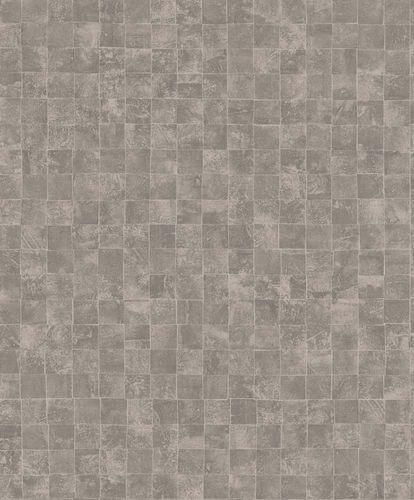 Wallpaper tiles design light brown beige gloss 200711