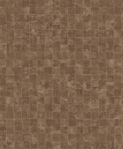 Wallpaper tiles design copper gloss 200713 online kaufen