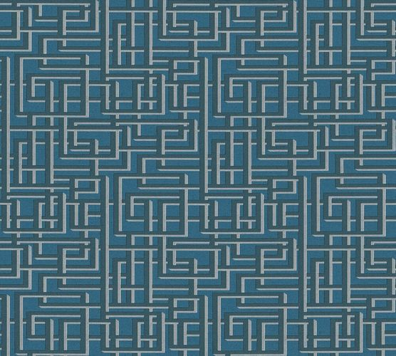 Wallpaper 3D graphic retro blue AS Creation 36312-5 online kaufen