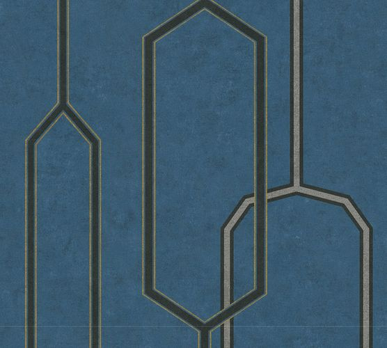 Wallpaper 3D chain design blue black AS Creation 36314-1 online kaufen