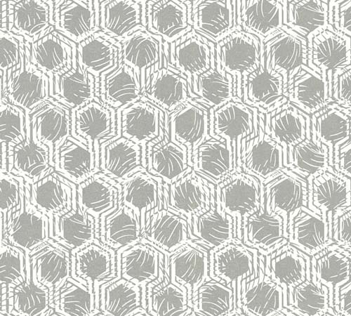 Non-Woven Wallpaper combs silver white Architects Paper 33327-1 online kaufen
