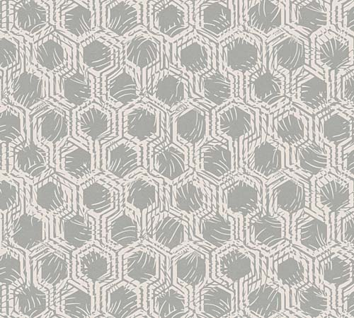 Non-Woven Wallpaper combs silver cream Architects Paper 33327-2 online kaufen