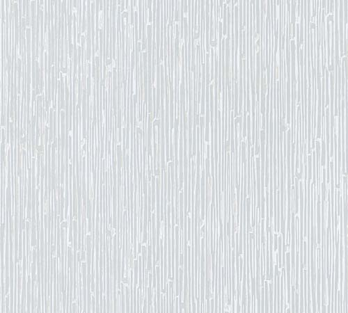 Non-Woven Wallpaper stripes Abstract white metallic 33328-2