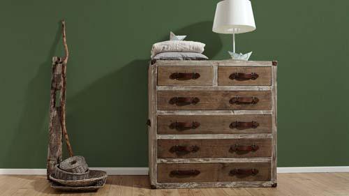 Non-Woven Wallpaper plain design streaky green 33370-3 online kaufen