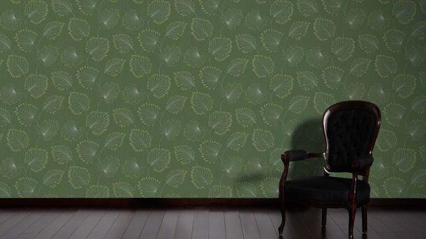 Non-Woven Wallpaper leaves green gold metallic 33371-1 online kaufen