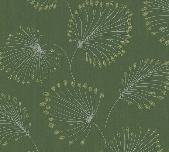 Non-Woven Wallpaper leaves green gold metallic 33371-1 online kaufen
