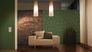 Detail picture Wallpaper leaves green gold metallic Architects Paper 33371-1 4