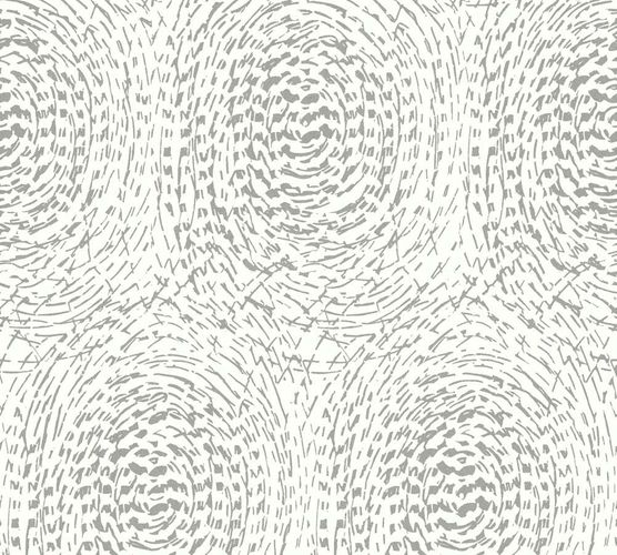 Non-Woven Wallpaper circle white Architects Paper 33373-2