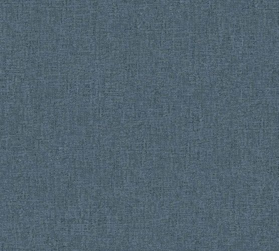 Non-Woven Wallpaper textile texture plain blue 33374-4