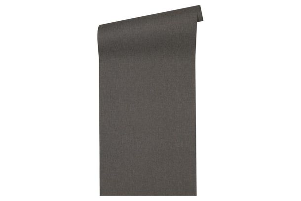 Non-Woven Wallpaper textile texture plain anthracite 33374-5 online kaufen
