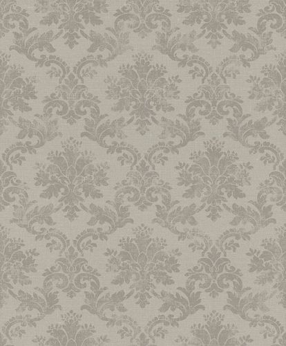 Non-woven Wallpaper Rasch Ornament taupe brown 401431