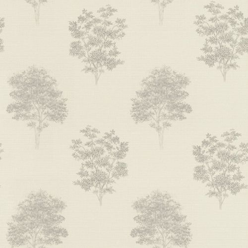 Non-woven Wallpaper Rasch Tree Nature cream taupe 401554