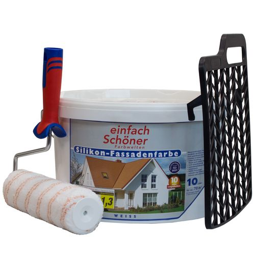 Einfach Schöner Silicone Paint for Houses white flat 10 litre online kaufen