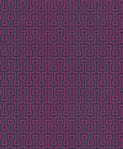 Non-Woven Wallpaper Rasch Ornament purple blue 525335