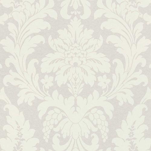 Non-Woven Wallpaper Rasch Baroque silver white Glossy 525410 online kaufen