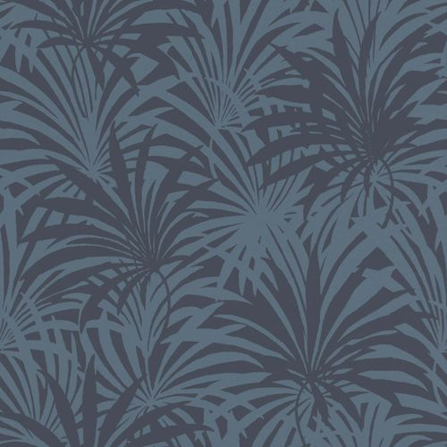 Non-Woven Wallpaper Rasch Palm Leaves blue 525939 online kaufen