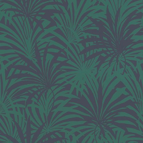 Non-Woven Wallpaper Rasch Palm Leaves blue green 525946 online kaufen