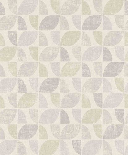 Non-Woven Wallpaper Graphic Vintage white beige-grey 519808