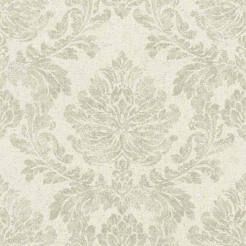 Non-Woven Wallpaper Baroque cream grey Rasch 802610