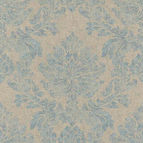 Non-Woven Wallpaper Baroque brown turquoise Rasch 802641