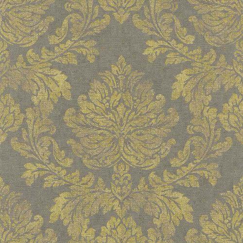Non-Woven Wallpaper Baroque grey yellow Rasch 802672