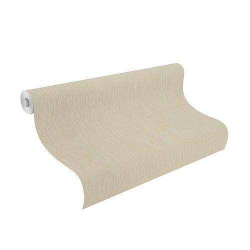 Non-Woven Wallpaper Stripes Texture cream Gloss Rasch 806533