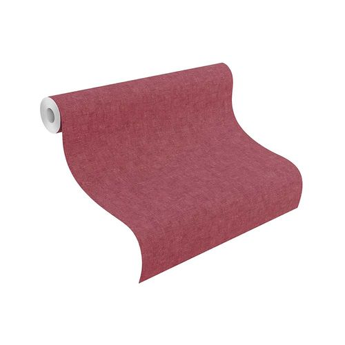 Non-Woven Wallpaper Plain Textile red Rasch 802955 online kaufen