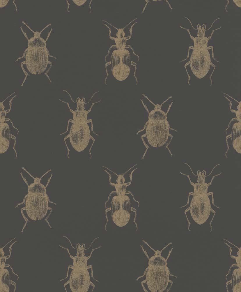 tapete k fer insekt schwarz gold glanz rasch textil 289519. Black Bedroom Furniture Sets. Home Design Ideas