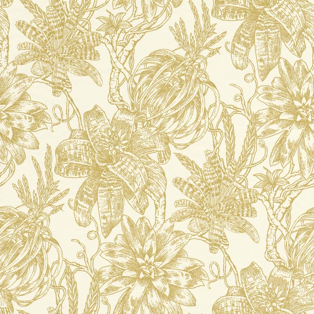 tapete blumen bl ten wei gold glanz rasch textil 289625. Black Bedroom Furniture Sets. Home Design Ideas